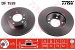 TRW Brake Discs DF1538