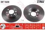 TRW Brake Discs DF1608