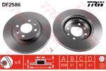 TRW Brake Discs DF2586
