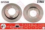 TRW Brake Discs DF2588