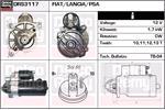 DELCO REMY Starter Motors DRS3117