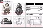 DELCO REMY Starter Motors DRS3202