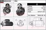 DELCO REMY Starter Motors DRS3240