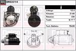 DELCO REMY Starter Motors DRS3314