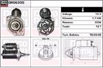 DELCO REMY Starter Motors DRS6300