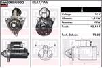 DELCO REMY Starter Motors DRS6990