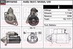 DELCO REMY Starter Motors DRT0250