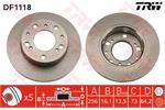 TRW Brake Discs DF1118