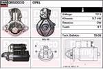 DELCO REMY Starter Motors DRS0030