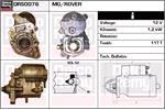 DELCO REMY Starter Motors DRS0076