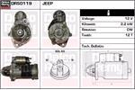 DELCO REMY Starter Motors DRS0119