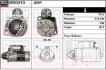 DELCO REMY Starter Motors DRS0213
