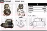 DELCO REMY Starter Motors DRS0245