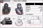 DELCO REMY Starter Motors DRS0309