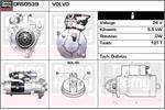 DELCO REMY Starter Motors DRS0539