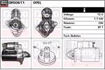 DELCO REMY Starter Motors DRS0611