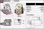 DELCO REMY Starter Motors DRS3052