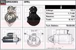 DELCO REMY Starter Motors DRS3080