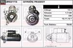 DELCO REMY Starter Motors DRS3115