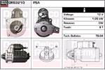 DELCO REMY Starter Motors DRS3210