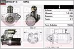 DELCO REMY Starter Motors DRS3216