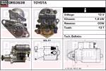 DELCO REMY Starter Motors DRS3638