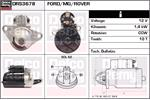 DELCO REMY Starter Motors DRS3678
