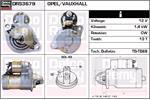 DELCO REMY Starter Motors DRS3679