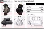 DELCO REMY Starter Motors DRS3737
