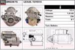DELCO REMY Starter Motors DRS3875