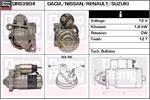 DELCO REMY Starter Motors DRS3904