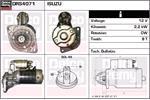 DELCO REMY Starter Motors DRS4071