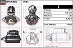 DELCO REMY Starter Motors DRS4860