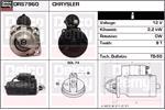 DELCO REMY Starter Motors DRS7960