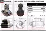 DELCO REMY Starter Motors DRS8010