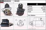 DELCO REMY Starter Motors DRS9030