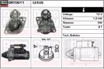 DELCO REMY Starter Motors DRT0611