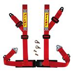 4 Point Racing Safety Belt Harness - Red