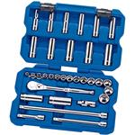 Draper Expert 33 Piece 3/8 inch Drive Metric Ratchet and Socket Set