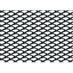 Racing Grill Mesh - Small 2x4 mm - 100x33 cm - Black anodized