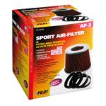 High Performance Twin Cone Air Filter - Red and Black