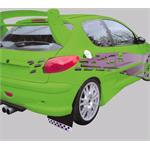 Rally, universal mudflaps front/rear - Black