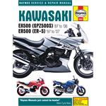 Kawasaki EX500 (GPZ500S) & ER500 (ER-5) (1987 - 2008) Haynes Manual