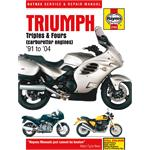Motorcycle Manual - Triumph Triples & Fours (Carburettor Engines) (1991-1999)