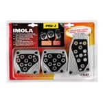 Imola Brushed Steel and Black Pedal Pads