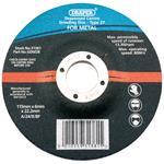 Draper Bore Depressed Centre Grinding Disc - 115 x 22.2 x 6mm