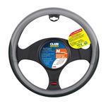 Club, Steering Wheel Cover - Ø 37/39 cm - Black/Grey