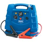 Draper 12v 700A Portable Power Pack with Air Compressor and Integral Light
