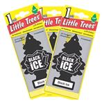 Little Trees Black Ice Air Freshener - 3 Pack