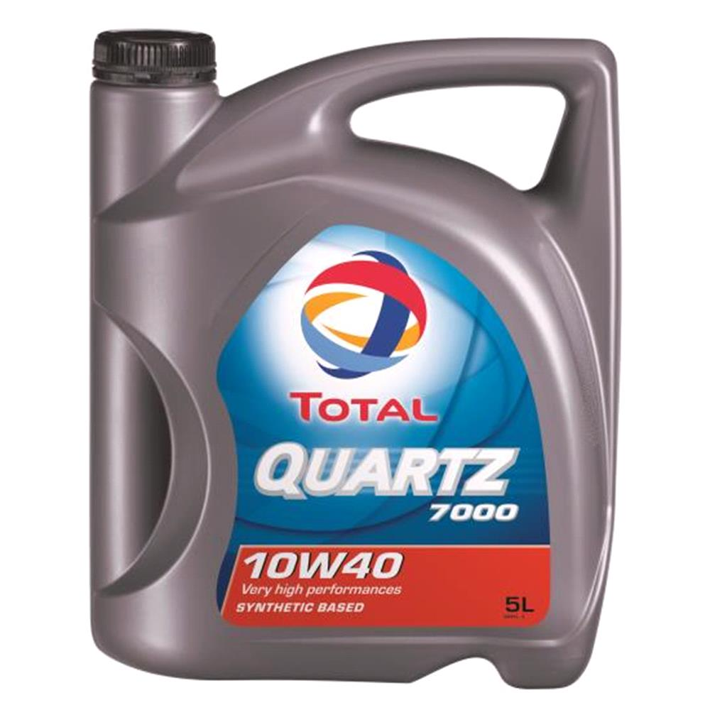 TOTAL Quartz 7000 10w40 Semi Synthetic Engine Oil. 5 Litre